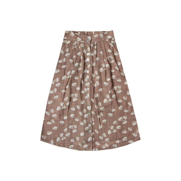 Button Front Skirt - Seashell