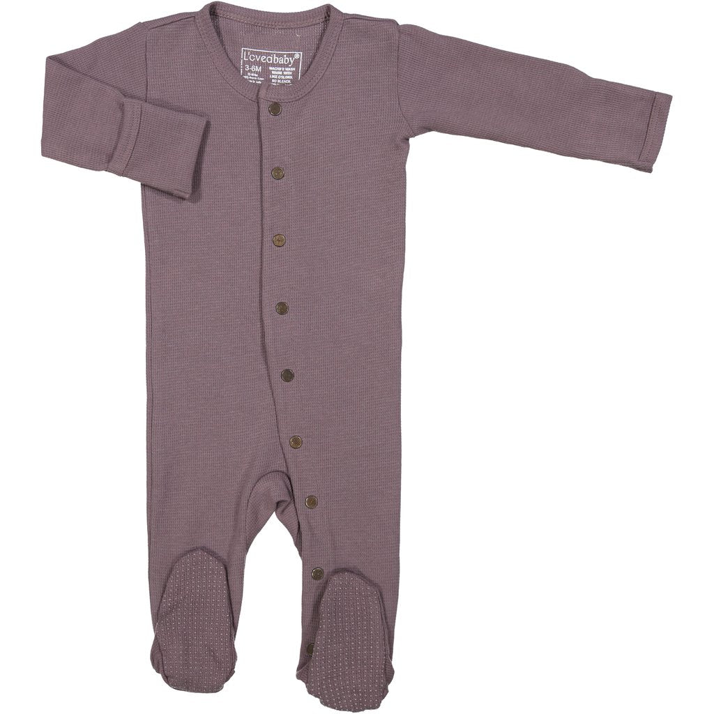 Organic Thermal Gloved-Sleeve Overall - Amethyst