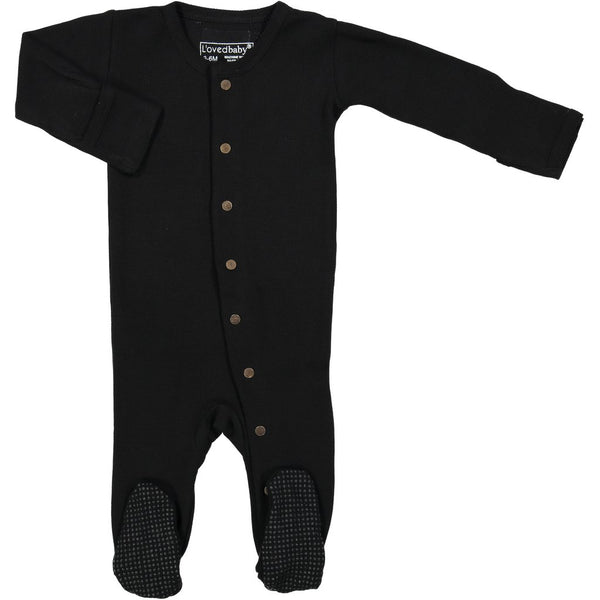 Organic Thermal Gloved-Sleeve Overall - Black