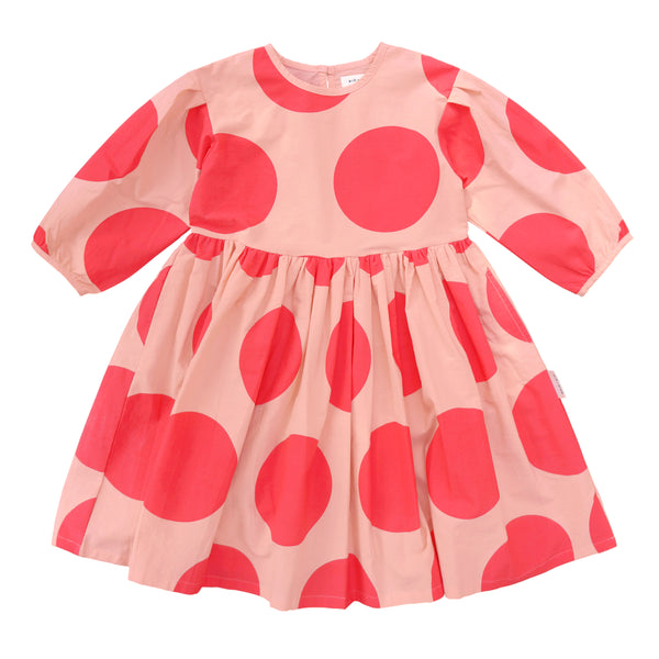 Polka dot full length dress