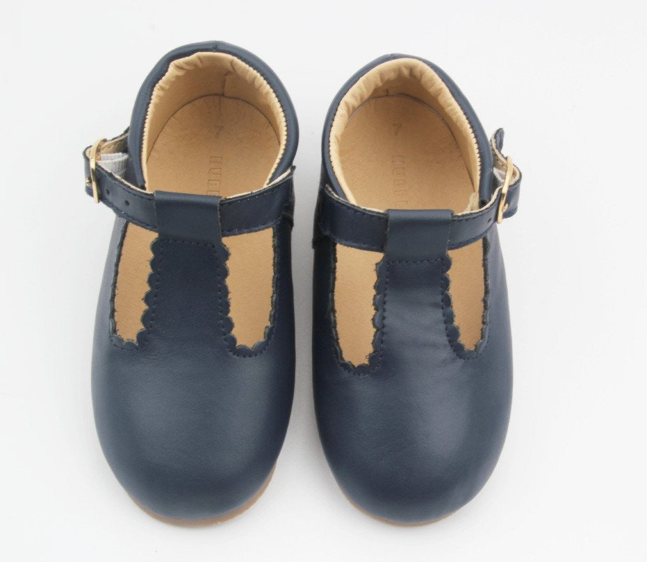 Soho Tbar Mary Janes - Navy