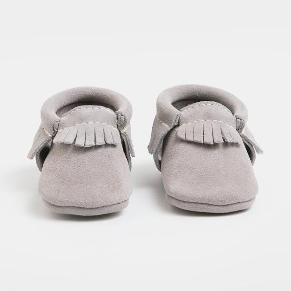 Stone Suede Moccasins