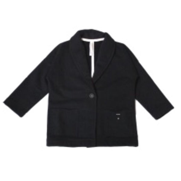 Organic Oversized Jacket - Nearly Black