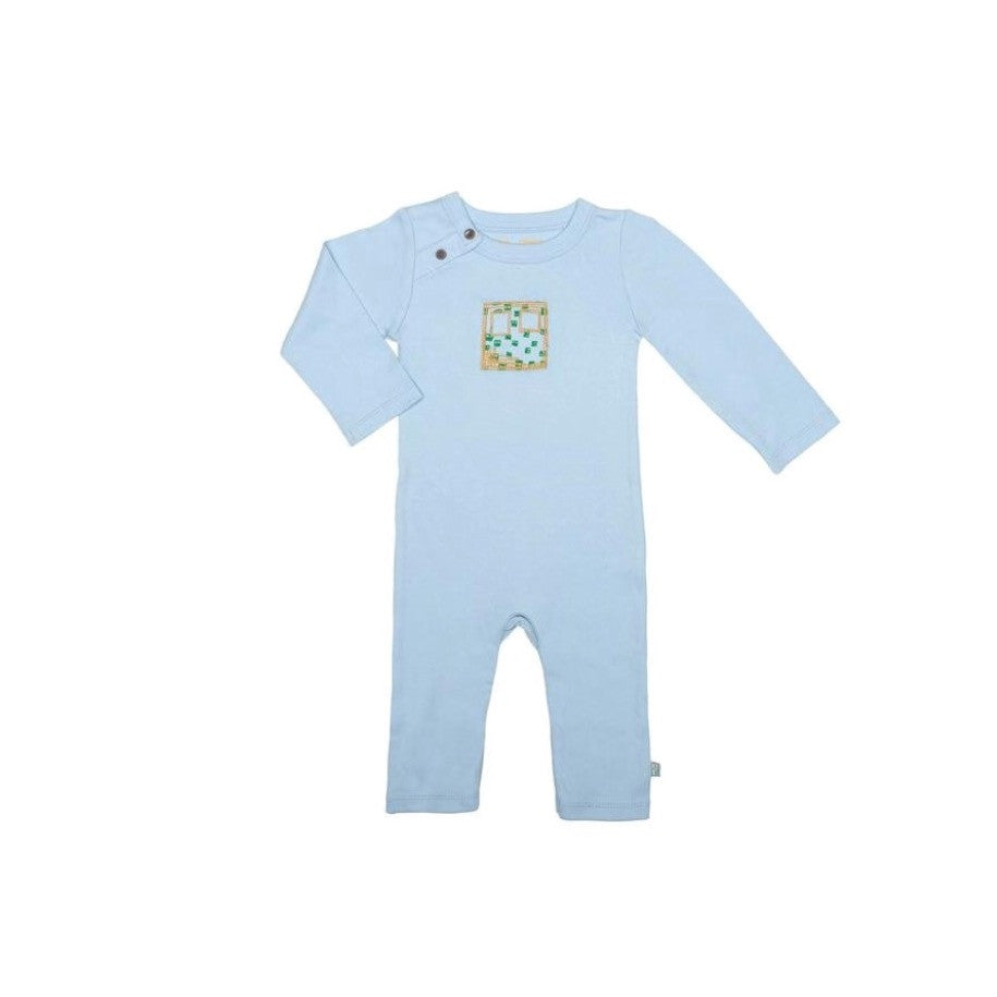 Coverall - Robot Baby Blue