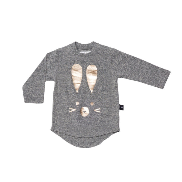 Hux Bunny Long Sleeves Tee - Grey