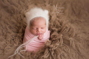 Angora Bear Bonnets ... the perfect combination of classic and fuzzy for your Newborn Sessions