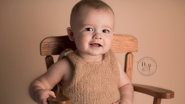Classic Knit Romper - Sitter Photo Props - Knit Photography Props by Double the Stitches