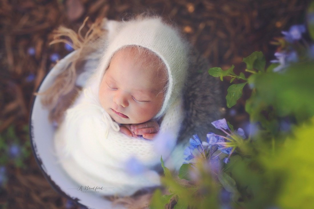 Angora Bonnet Newborn Photography Prop - 41 Colors - Knit Photography Props by Double the Stitches