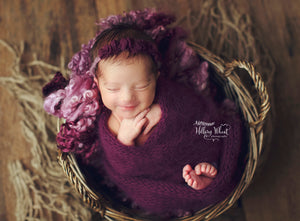 Angora Wrap for Newborn Photography by Double the Stitches | Photo Copyright Hillary Wheat Photography