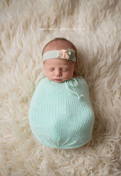 Newborn Swaddle Sack Set - Knit Photography Props by Double the Stitches