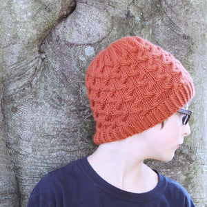 Alexander Cable Beanie Knitting Pattern - Knit Photography Props by Double the Stitches