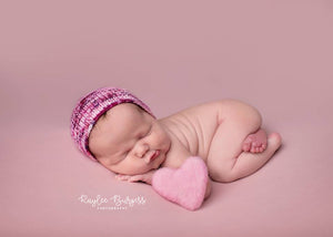 Sweetheart  Bonnet - Photo Prop - Knit Photography Props by Double the Stitches