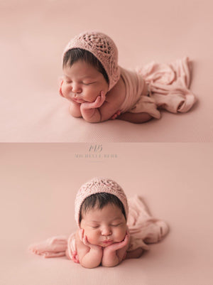 Dream Catcher Newborn Bonnet - Knit Photography Props by Double the Stitches