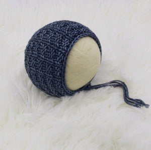 Alexander Bonnet - 2 Colors - Knit Photography Props by Double the Stitches
