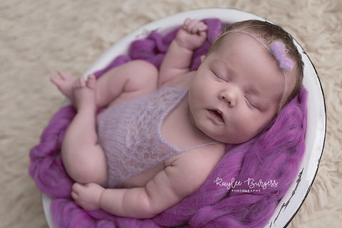 Mohair Romper - Newborn Photo Prop - Knit Photography Props by Double the Stitches