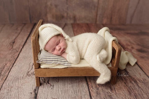 Newborn Long Sleeve Footed Romper Jammies Photography Prop