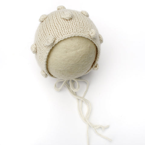 Bubble Newborn Alpaca Bonnet - Knit Photography Props by Double the Stitches