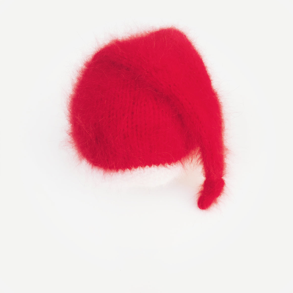 Angora Santa Sleepy Hat and Wrap Set - Knit Photography Props by Double the Stitches