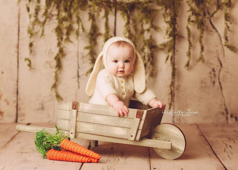 Floppy Bunny Bonnet - Sitter Photo Prop - Newborn Prop - Knit Photography Props by Double the Stitches