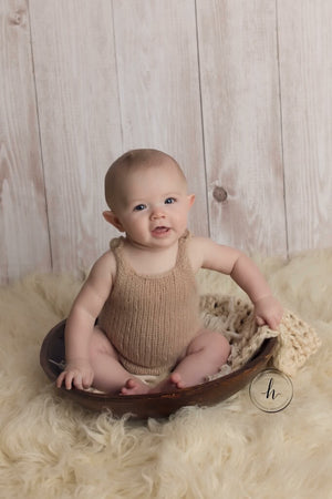 Classic Knit Sitter Romper Photography Prop - 12 Colors - Knit Photography Props by Double the Stitches