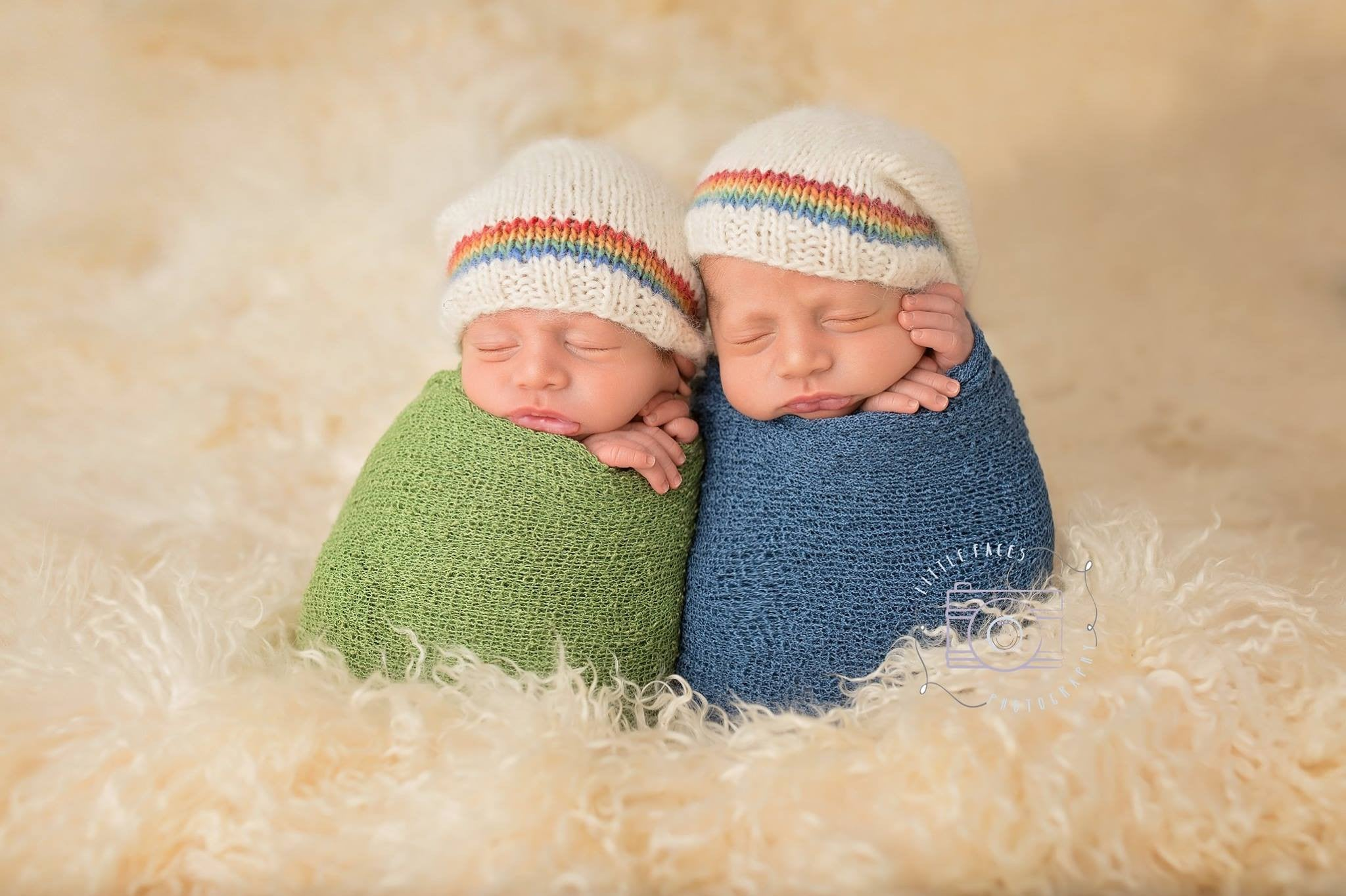 bf228b23982 Rainbow Baby Hat - Rainbow Stripe - Newborn Rainbow Baby Photo Prop - Knit  Photography Props