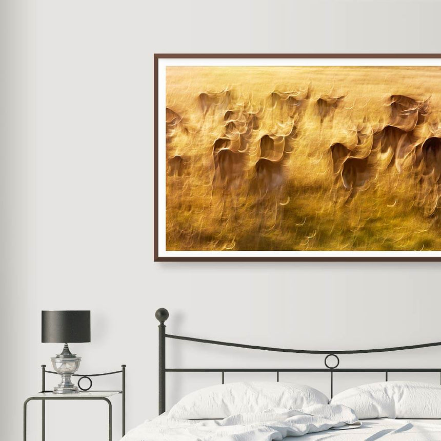 Fine art photographic print by Jonathan and Angela Scott, depicting a herd of impalas in Maasai Mara, Kenya.