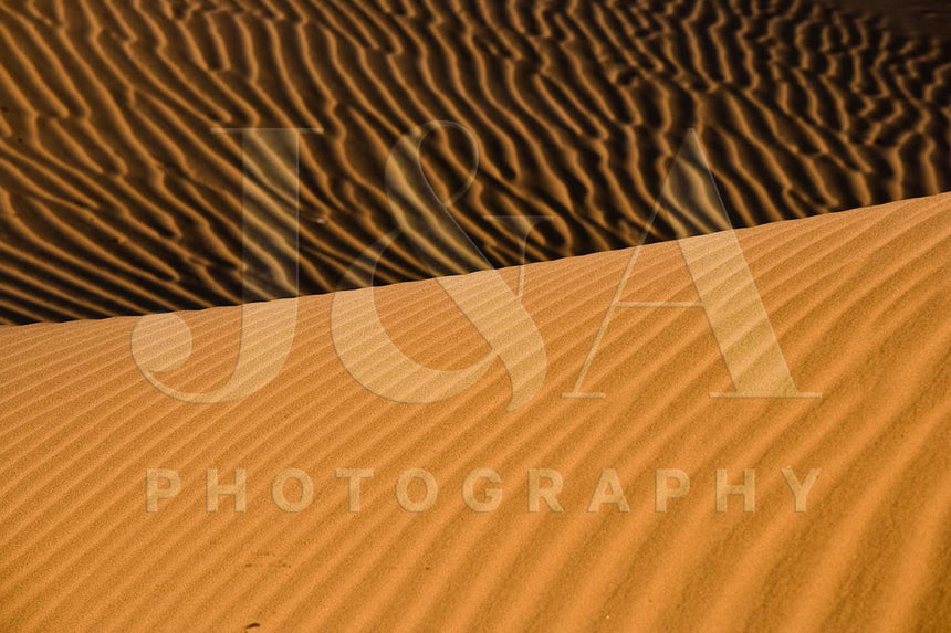 Limited edition photographic print by Jonathan and Angela Scott, depicting towering sand dunes in Sossusvlei, Namibia.