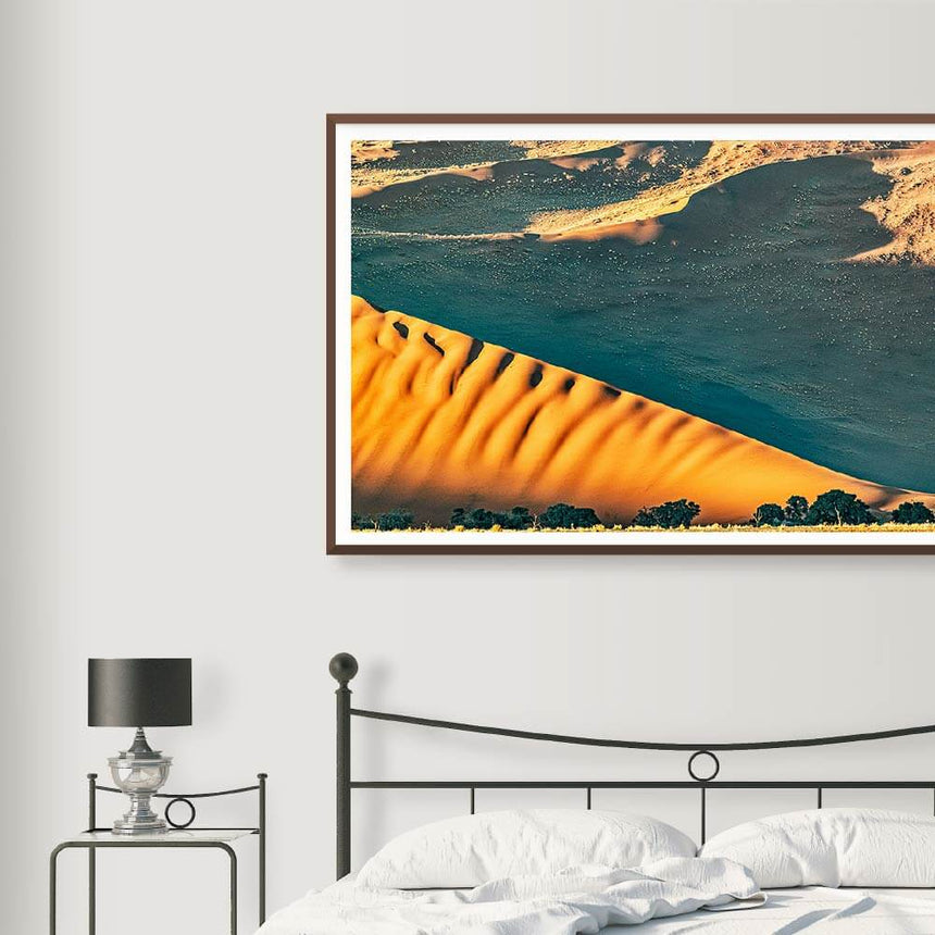Fine art photographic print by Jonathan and Angela Scott, depicting the massive Sossusvlei Dunes in Namibia.