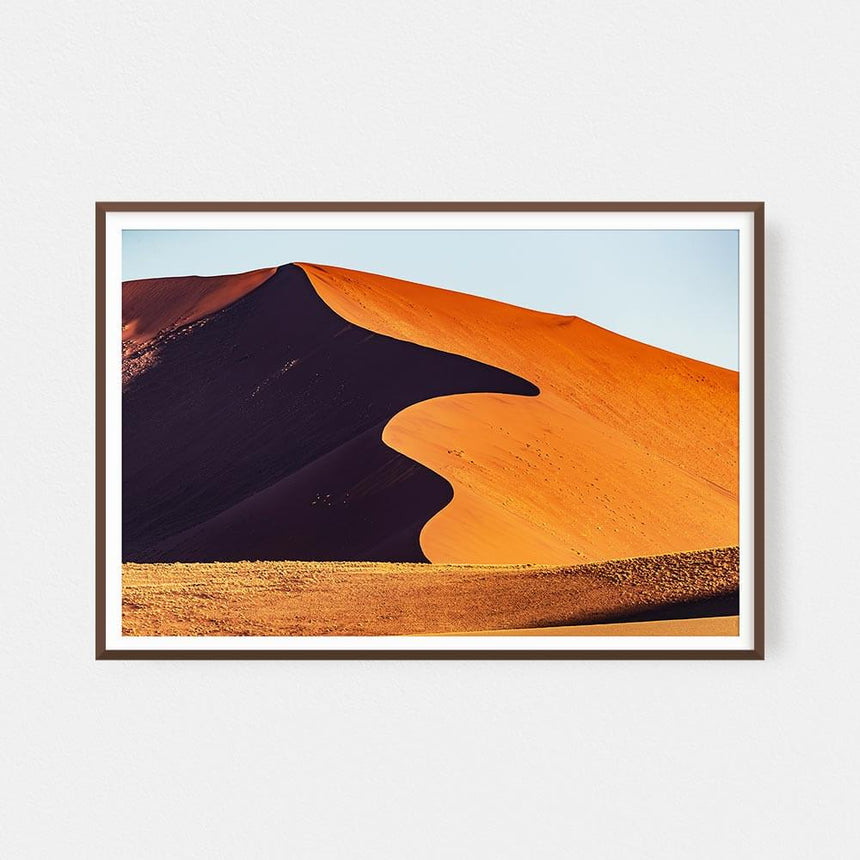 Fine art photographic print by Jonathan and Angela Scott, depicting the massive sand dunes in Sossusvlei, Namibia.