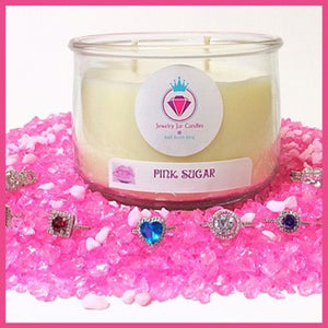 PINK SUGAR - Jewelry Jar Candles