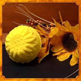 SUMMER SUNFLOWERS JUMBO BATH BOMB WITH YOUR CHOICE OF JEWELRY!