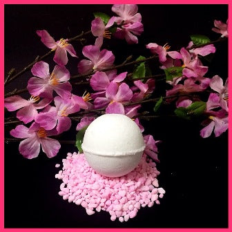 CHERRY BLOSSOM SHOWER STEAMERS & BATH BOMBS FOR WOMEN