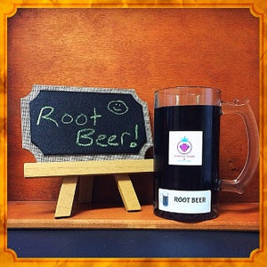 ROOT BEER IN A COLLECTORS MUG RING MANDLE