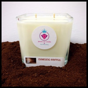 MORNING COFFEE NECKLACE CANDLE - Jewelry Jar Candles