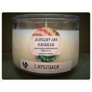 JEWELRY JAR CANDLES, CANDLE ONLY, LAVENDER - Jewelry Jar Candles