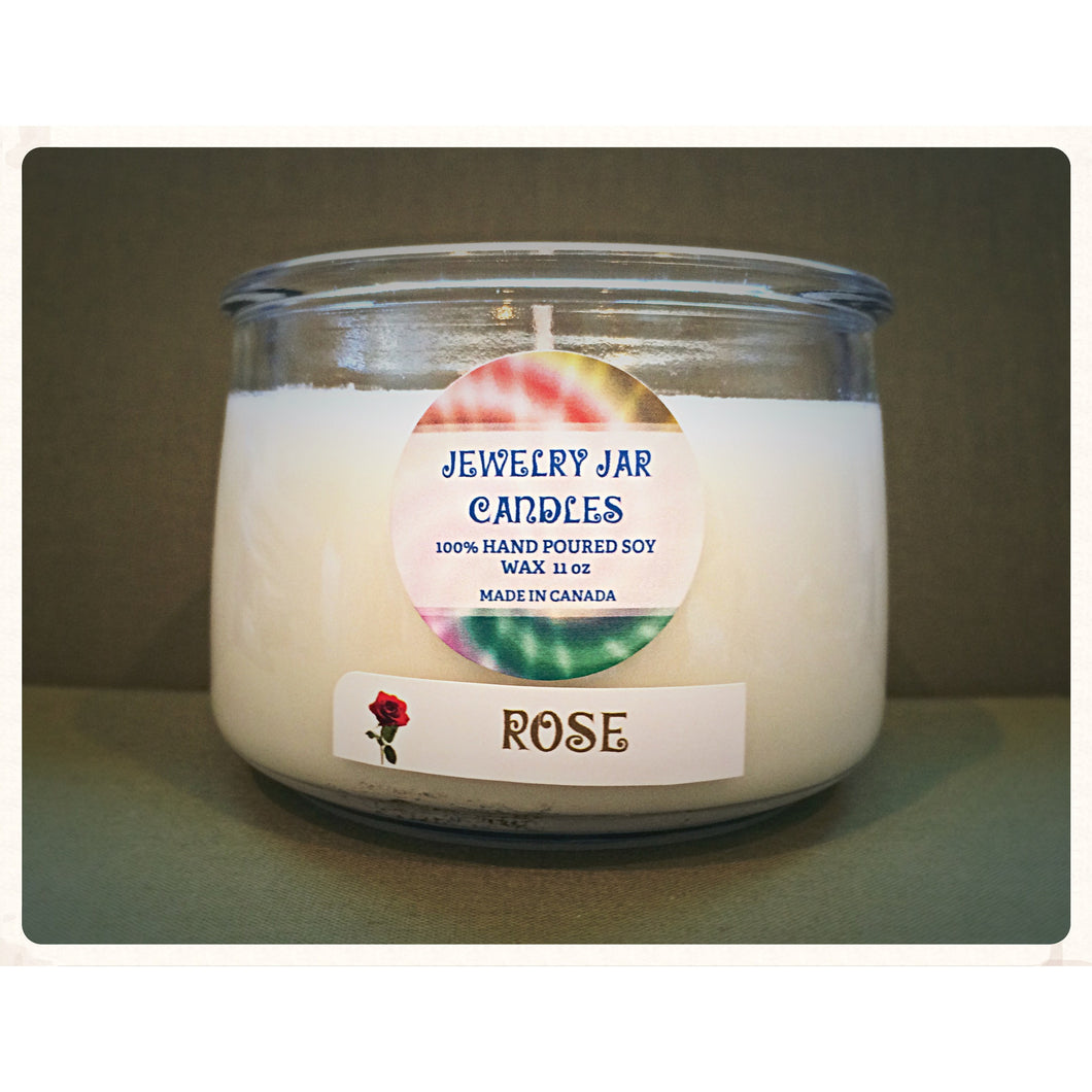 JEWELRY JAR CANDLES, CANDLE ONLY, ROSE - Jewelry Jar Candles