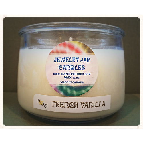 JEWELRY JAR CANDLES,  CANDLE ONLY, FRENCH VANILLA - Jewelry Jar Candles