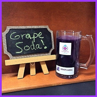 GRAPE SODA IN A COLLECTORS MUG RING MANDLE
