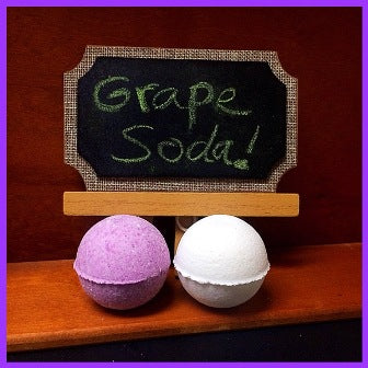 GRAPE SODA BATH BOMB BLING FOR WOMEN