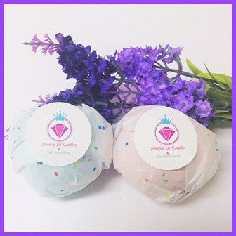LAVENDER, NECKLACE BATH BOMB - Jewelry Jar Candles