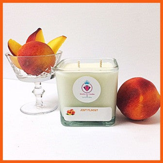 JUST PEACHY RING MANDLE - Jewelry Jar Candles