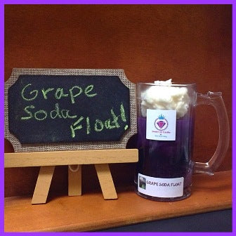 GRAPE SODA FLOAT IN A COLLECTORS MUG, RING CANDLE FOR WOMEN