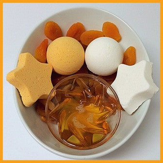 APRICOT & HONEY, BATH BOMB BLING FOR MEN - Jewelry Jar Candles