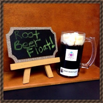 ROOT BEER FLOAT IN A COLLECTORS MUG, RING CANDLE FOR WOMEN