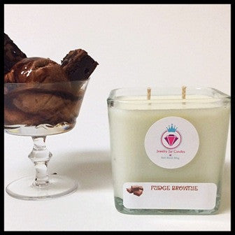 FUDGE BROWNIE RING MANDLE - Jewelry Jar Candles