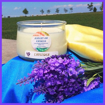 LAVENDER NECKLACE CANDLE - Jewelry Jar Candles
