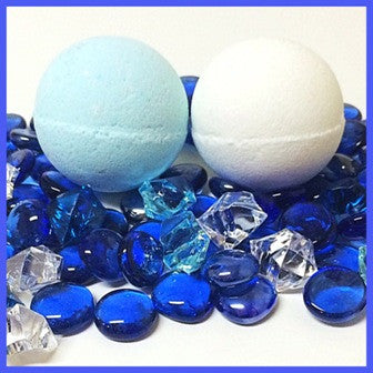 BLUE STEEL, MEN'S BATH BOMB WITH SNAPS - Jewelry Jar Candles