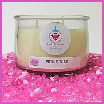 PINK SUGAR NECKLACE COLLECTION - Jewelry Jar Candles