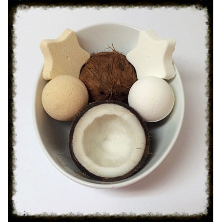 COCONUT, BATH BOMB - Jewelry Jar Candles
