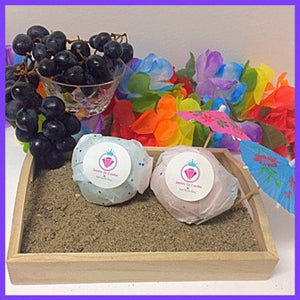 THE GRAPE ESCAPE BATH BOMB BLING FOR MEN - Jewelry Jar Candles
